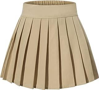 Women's High Waisted Pleated Mini Shorts Elasticated Sport Skorts XS-XL 16 Colors