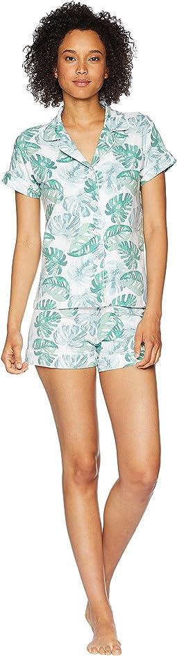 BedHead Palm Tree Short Sleeve Shorts Pajamas