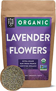 Organic Lavender Flowers Dried | Perfect for Tea, Baking, Lemonade, DIY Beauty, Sachets & Fresh Fragrance | 100% Raw From ...