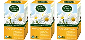 Garden of the Andes Herbal Organic Decaf Chamomile Hot Tea Bags, 0.9 oz, 20 Tea Bag Count (Pack of 3 Boxes)