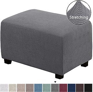 H.VERSAILTEX Stretch Storage Ottoman Slipcover Furniture...