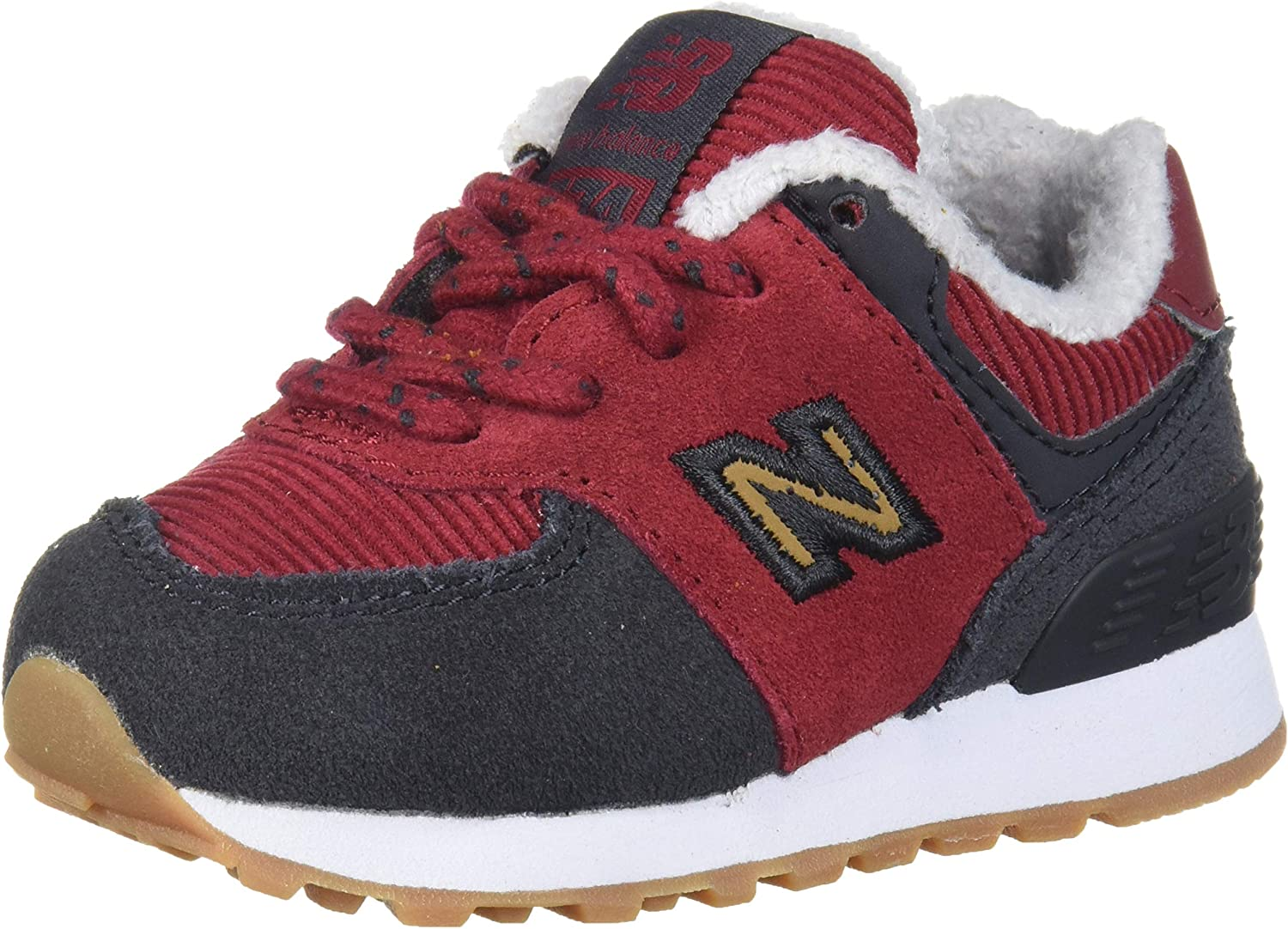 New Balance Kids' 574 V1 Winter Suede Lace-up Sneaker