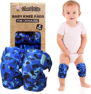 Baby Knee Pads for Crawling (2 Pairs) | Protector for Infant, Toddler, Girl, Boy (Ocean Camo)