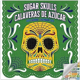 Day of The Dead Calendar 2020 Set - Deluxe 2020 Sugar Skulls Wall Calendar with Over 100 Calendar Stickers (Dia De Los Muertos Gifts)
