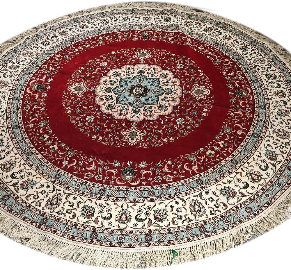 Yilong 7 Feet Round Handmade Persian Silk Carpet Home Ranking TOP14 Tradit Austin Mall for