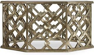 Hooker Furniture Melange Nico Coffee Table in Silver