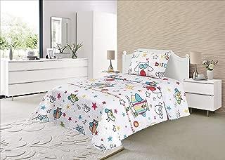 Colcha Verano Estampada Reversible Tipo Funda de Coj/ín 60 x 60 cm Incluida Infantil Caperuza, Cama 90 Energy Colors Textil-Hogar