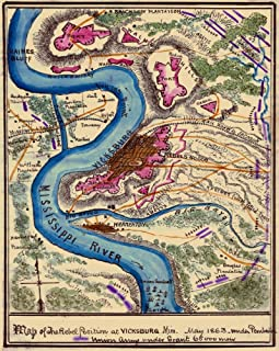 Battle for Vicksburg Tennessee Terrain and Confederate fortifications around Vicksburg Miss in mid-May 1863 just after Con...