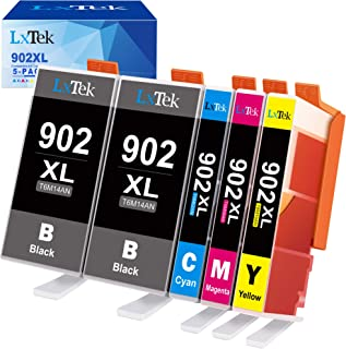 LxTek Compatible Ink Cartridge Replacement for HP 902 XL 902XL to use with Officejet 6978 6954 6962 6968 6975 Printers (5 ...