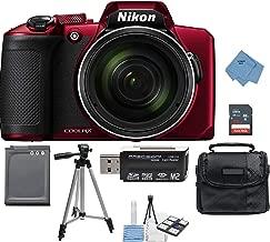 Nikon Coolpix B600 RED 60x Wi-Fi Digital Camera with 32GB Card + Battery + Case + Tripod + Ultimate Deals Kit