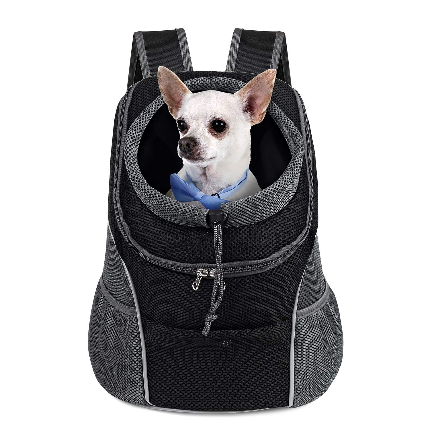 Amazon.com : WOYYHO Pet Dog Carrier Backpack Puppy Dog Travel Carrier Front Pack Breathable Head-Out Backpack Carrier for Small Dogs Cats Rabbits (M ( up to 10 lbs ) , Black ) : Pet Supplies
