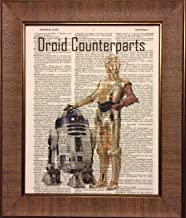 Ready Prints Droid Counterparts Star Wars Dictionary Book Page Artwork Print Picture Poster Home Office Bedroom Nursery Kitchen Wall Decor - unframed