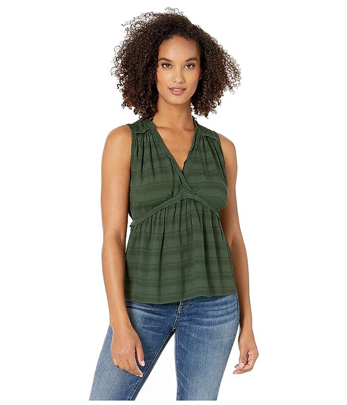 Lucky Brand  Sleeveless Romantic Ruffle Top (Sycamore) Womens Clothing