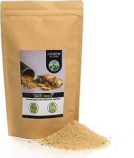 Jengibre en polvo (500g), jengibre molido, 100% natural, suavemente secado y molido, vegano y sin aditivos