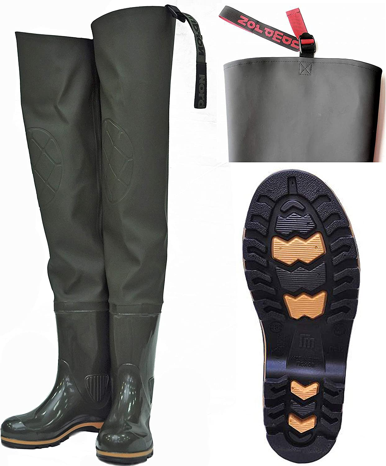 Nordman Hip Wader with Boots Hunting for Farming Gard 付与 Fishing 海外限定