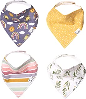 """Baby Bandana Drool Bibs for Drooling and Teething 4 Pack Gift Set """"Hope"""" by Copper Pearl"""