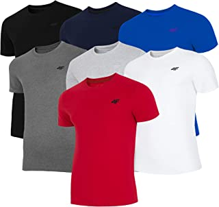 4F T-Shirt TSM002 Mens Short Sleeve Fitness Gym Runing  Active Sports COTTON