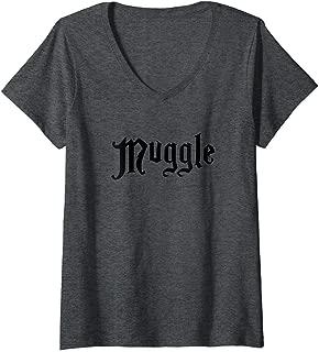 Womens Harry Potter Muggle V-Neck T-Shirt