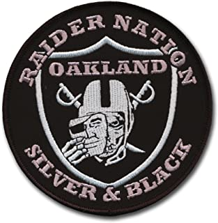 Large Oakland Raider Football Nation Patch (4 1/2