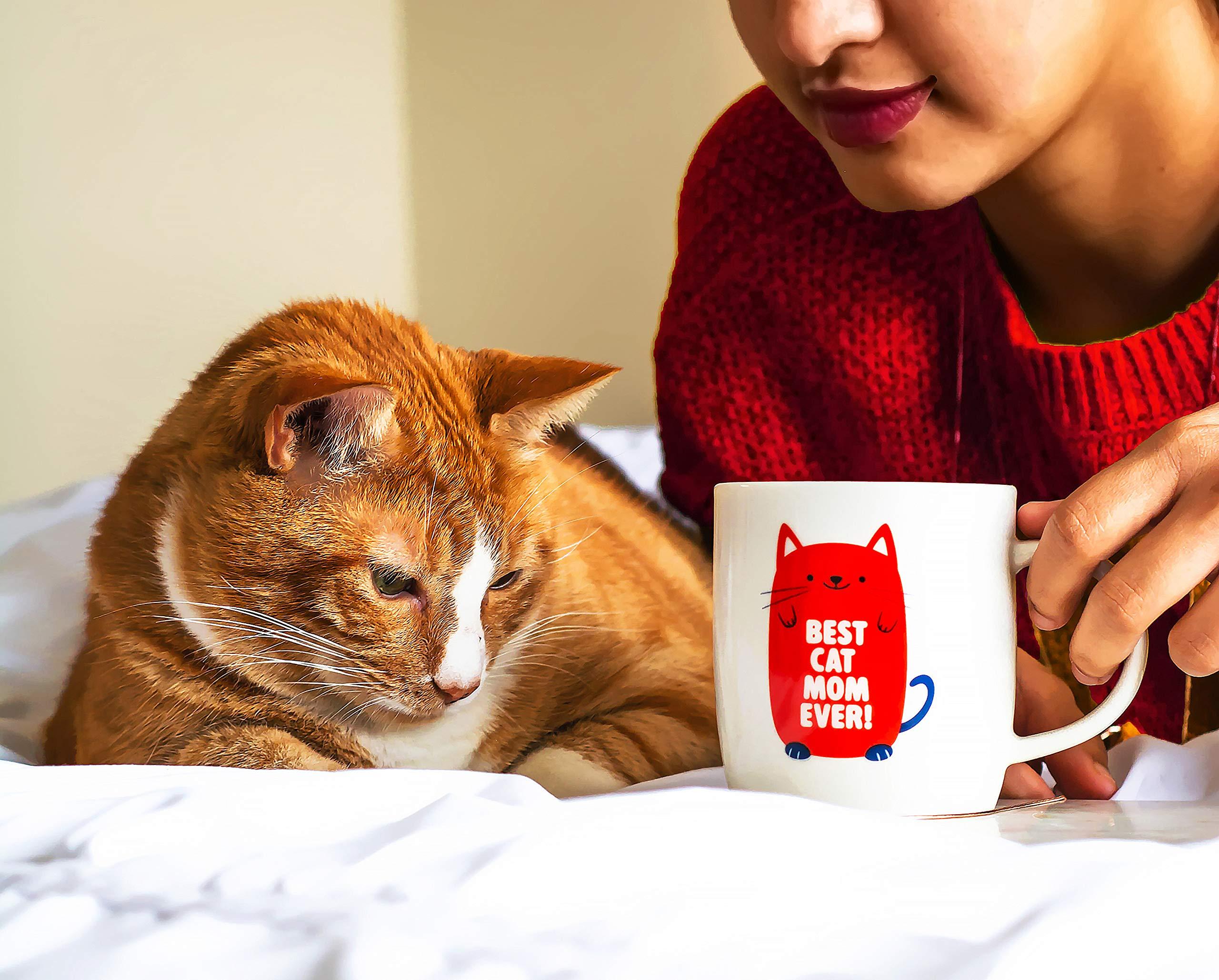 Gifffted Gato Mamá Taza, Cat Mom, Regalos Amante de Los Gatos, Dia ...