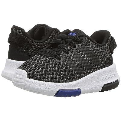 adidas Kids Cloudfoam Racer TR (Infant/Toddler) (Black/Black/White) Kids Shoes