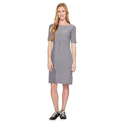 Royal Robbins Kickback to Front Dress (Deep Blue Stripe) Women