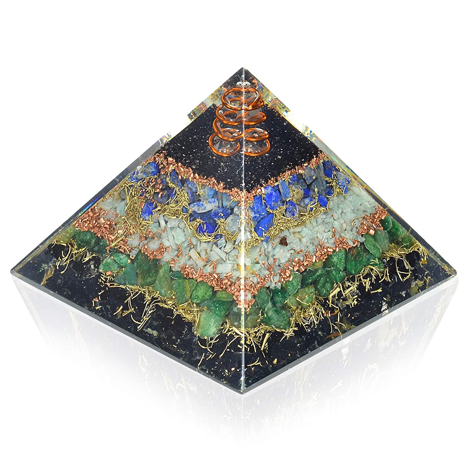 New 70% OFF Outlet Orgone Max 50% OFF Pyramid for Healing Tourmaline Black Lapis Heart