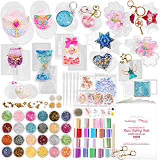 Funshowcase Resin Shaker Silicone Molds Pack Jewelry Supplies 133 Kits