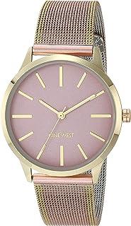 Nine West - Reloj de pulsera de malla para mujer