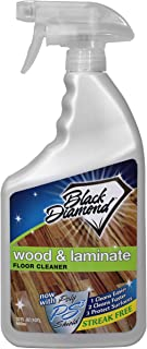 Black Diamond Stoneworks Wood & Laminate Floor Cleaner: For Hardwood, Real, Natural & Engineered Flooring, Biodegradable Safe for Cleaning All Floors. 1-quart