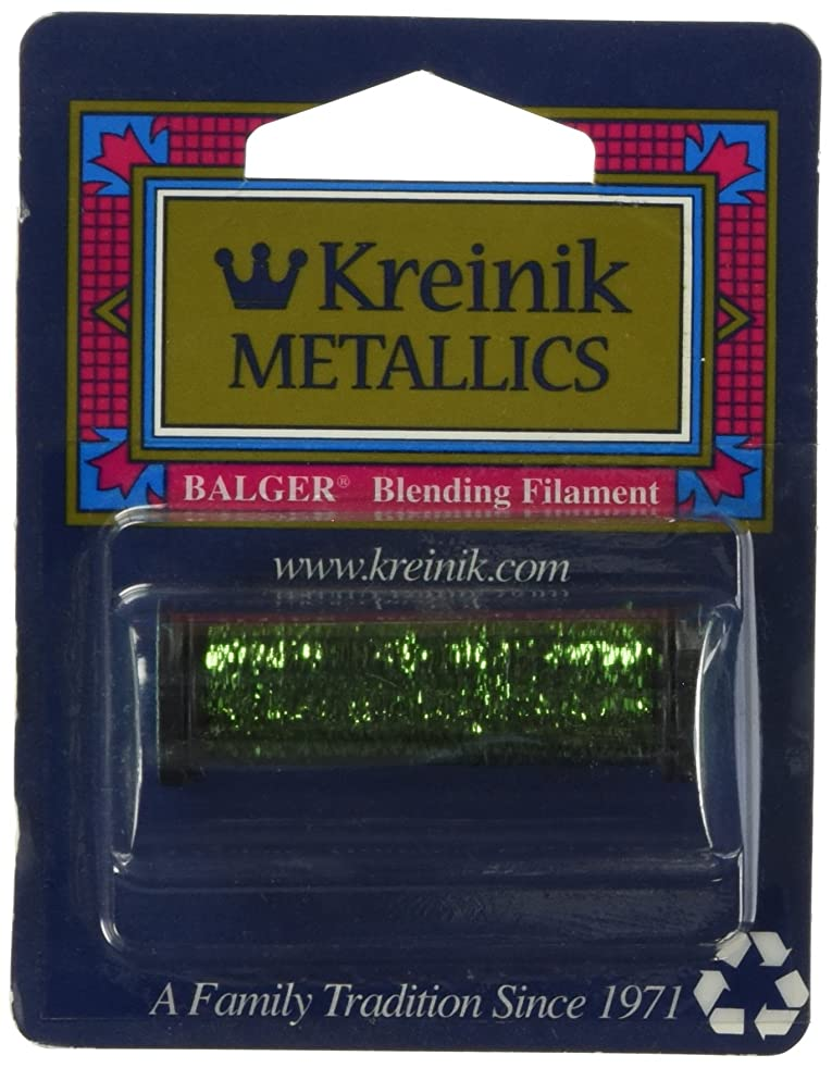 Kreinik BF-015HL Blending Filament 50m Metallic Thread for Sewing, 55-Yard, Hi Lustre Chartreuse