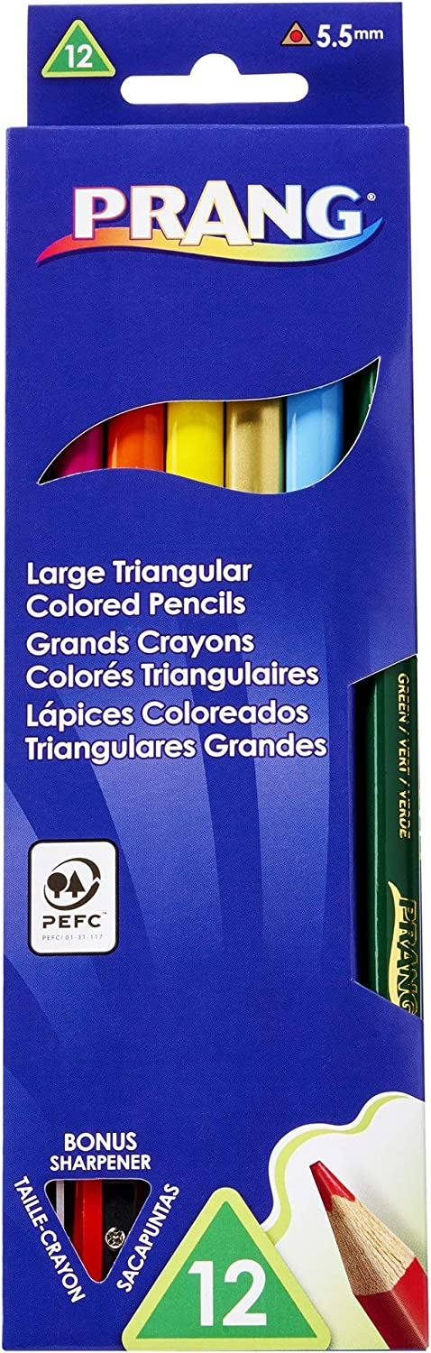 Prang Large Triangular Colored Pencils Millimeter In Under blast sales Houston Mall 5.5 Cores