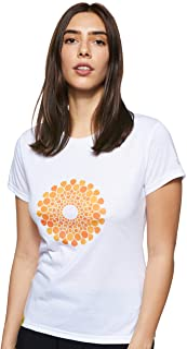 Expo 2020 Dubai Women's T-Shirt Made from Recycled Plastic Bottles - Orange Emblem