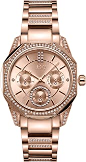 JBW Luxury Women's Marquis 5 Diamonds Faceted Bezel Metal Watch - J6369B