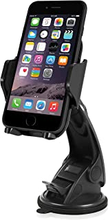 Macally Windshield Phone Mount, Adjustable Suction Cup Window Mount Phone Holder for iPhone Xs XS Max XR X 8 Plus 7+ 6s 6 ...