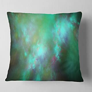 Designart Blue Fractal Sky with Blur Stars' Abstract Throw Living Room, Sofa, Pillow Insert + Cushion Cover Printed on Bot...