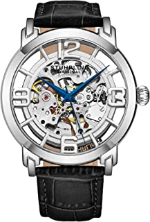 Stuhrling Original Winchester 44 Men's Silver Dial Leather Band Watch - 165B2.331554