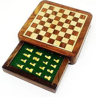 LouiseEvel215 Jeu d/échecs International Concours denseignement Jeu d/échecs surdimensionn/é Chessman Luxurious Premium Gift Box
