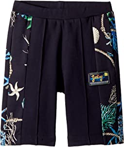 Versace Kids Shorts w/ Sea Shore Design on Sides (Big Kids)
