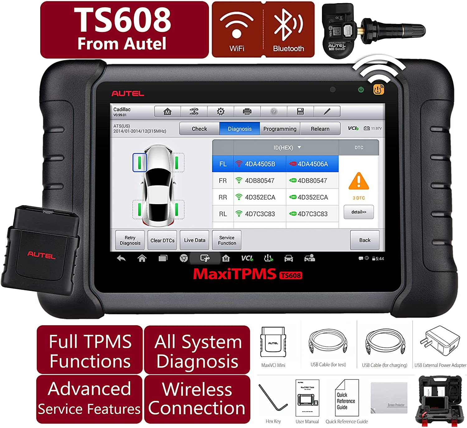 Autel MaxiTPMS TS608 with Screen Fu TPMS Protector Comprehensive Free Shipping Cheap Bargain Gift Selling