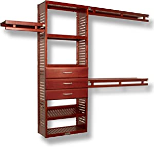 John Louis Home 12in. Deep Simplicity Organizer -3 Drawers (8in. Deep) Red Mahogany Finish