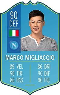 Adesivo Murale - Card Personalizzata FUT Player - Napoli - Plug Calcio Soccer Cameretta Idea Regalo Squadra del Cuore Calc...