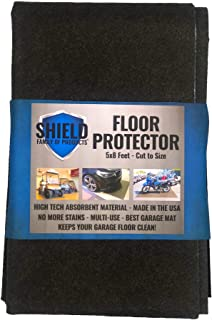 Shield Family Floor Protector - Garage Mat - Floor Mat - Keep your floors clean! Size: 5ft by 8ft