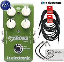 TC Electronic Corona Chorus Pedal + (2) Instrument Cables + (2) Patch Cables + K&M Cloth