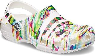 Crocs Unisex-Adult Classic Tie Dye Clog | Comfortable Slip on Water Shoes