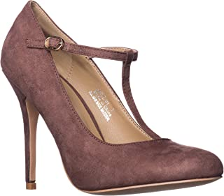 Riverberry Women's Sadie Round Toe T-Strap High Heel Pumps