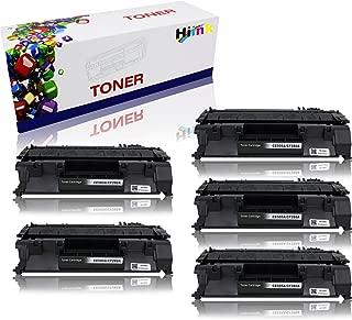 HIINK 5 Pack CE505A Toner Cartridge Replacement for HP 05A CE505A Toner Used in HP Laserjet P2035 P2035n P2050 P2055 P2055d P2055dn P2055x Series Printer (Black, 5-Pack)