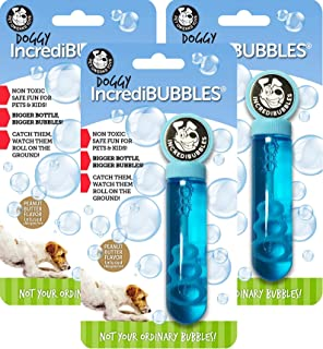 Pet Qwerks 3 Pack of Doggy Incredibubbles Peanut Butter Flavor