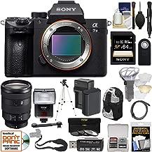 Sony Alpha A7 III 4K Digital Camera Body & FE 24-105mm f/4 Lens + 64GB Card + Battery + Backpack + 3 Filters + Flash + Tripod + Kit