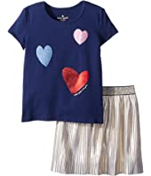 Kate Spade New York Kids - Tossed Hearts Skirt Set (Toddler/Little Kids)